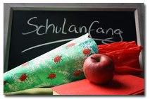 Foto Schultüte u. Apfel